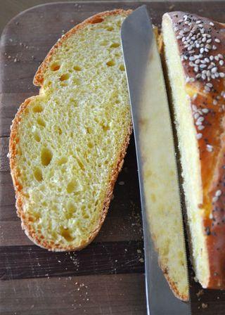 a slice of 5-braid challah