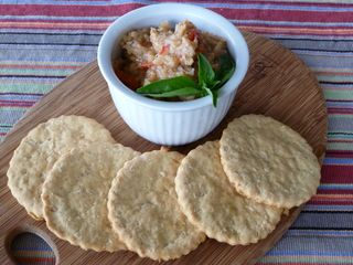 White bean wafers and bean spread