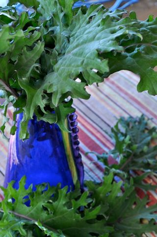 kale in a vase