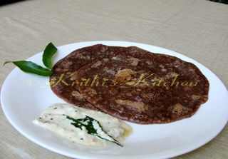 Ragi Dosa - Krithi's Kitchen