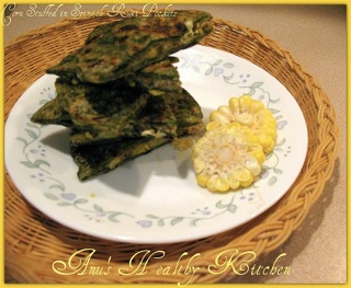 Corn in Spinach Roti Packets-1