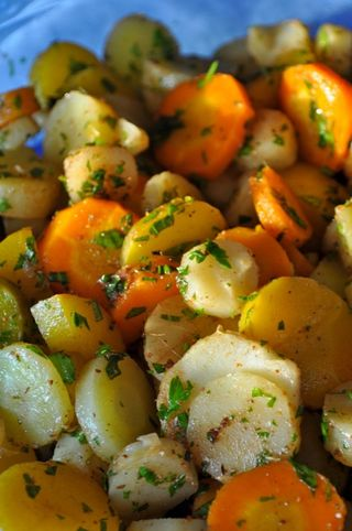carrots and parsnips with cumin sauce