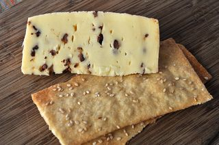 Bel Paese cheese with cacao nibs