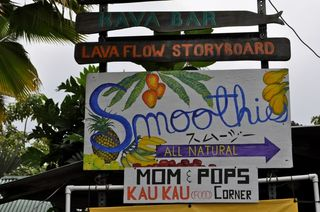 sign in Kalapana