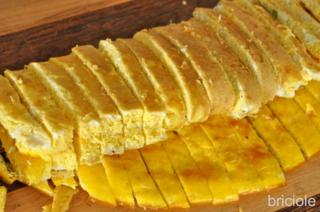 frittata cut into strips