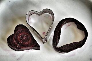 red beet heart