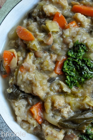vegetable soup inspired by ribollita