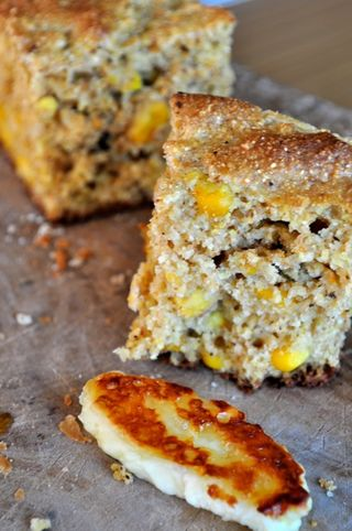 cornbread with corn kernels