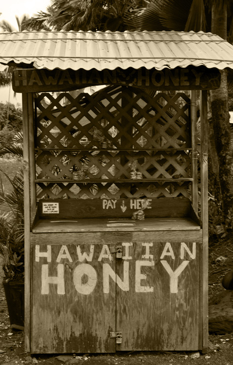 honey stand in Kalapana