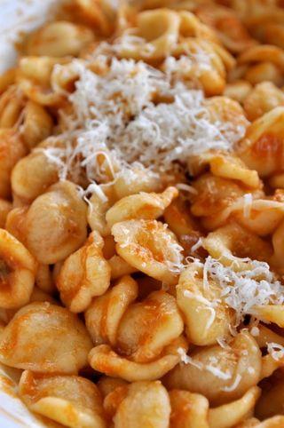 orecchiette with tomato sauce