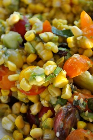 corn tomato cucumber avocado salad