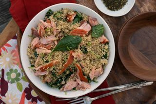 Whole Wheat Couscous with Smoked Salmon, Baby Kale, and Za'atar 3