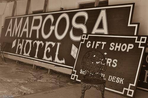 Amargosa Hotel sign