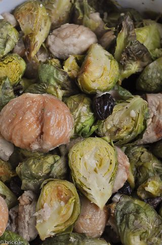 Brussels sprout and chestnuts