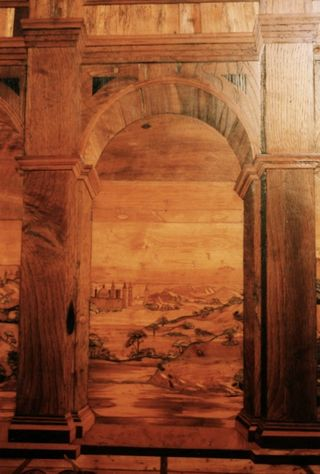 Urbino Ducal Palace: a detail of the studio