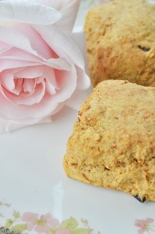roasted carrot scones