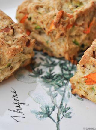 zucchini and walnut scones