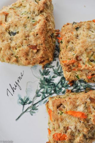 zucchini and walnut scones