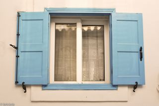 window in Samos, Greece
