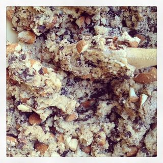 almond and chocolate biscotti dough
