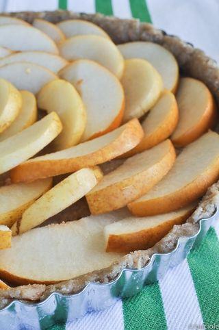 Asian pear and quark cheese tart