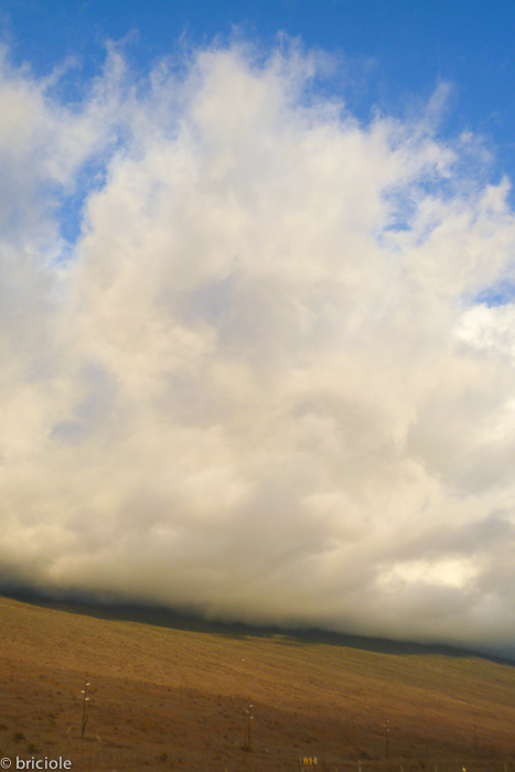 clouds on the side of Mauna Kea