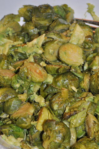 Brussels sprouts with avocado