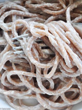 chestnut flour handmade spaghetti