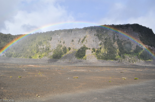 rainbow in Kilauea Iki Crater Big Island Hawaii