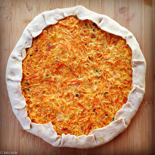 savory carrot and fromage blanc tart / torta salata con carote e fromage blanc