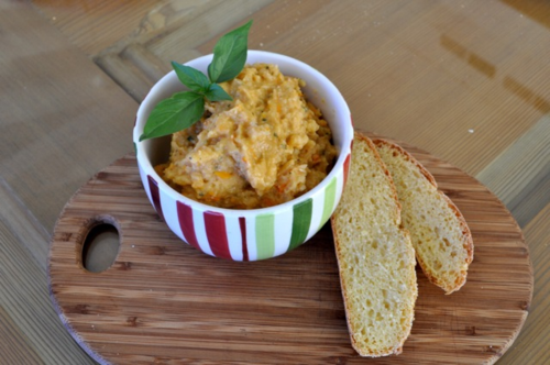 Maize bread and bean spread