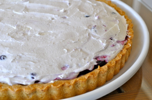 mascarpone and blueberry tart