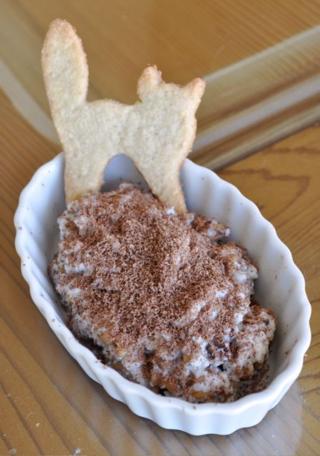 dessert of ricotta and oat groats