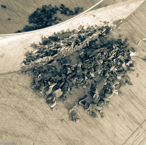 chopped parsley and mezzaluna