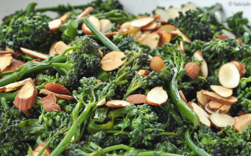 sauteed purple sprouting broccoli