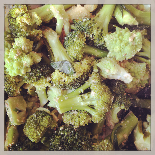 steamed broccoli with miso walnut dressing