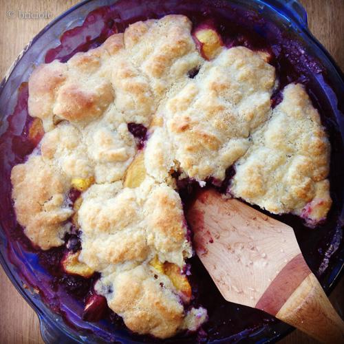 IMG_1695 / peach, berry and rhubarb cobbler