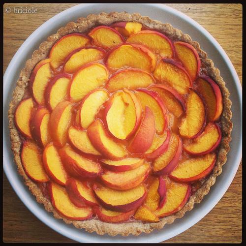 IMG_1807 / peach tart / crostata di pesche