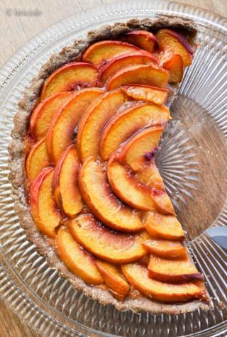 DSC_6081 / peach tart / crostata di pesche