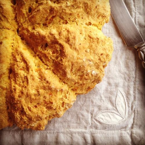Australian damper bread with pumpkin
