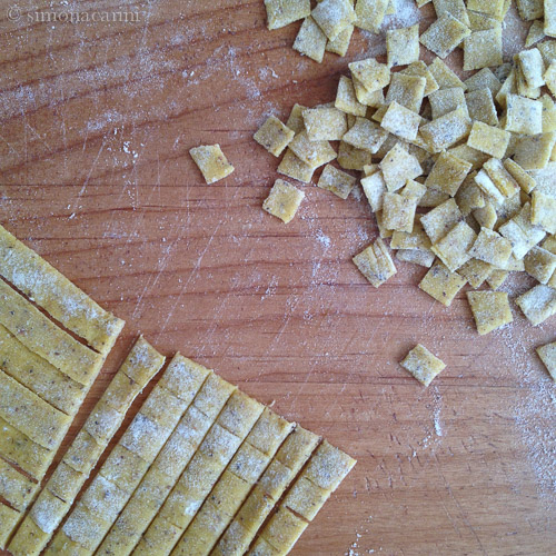 cutting crozets / IMG_4198