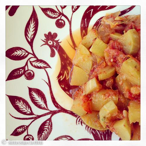 IMG_1998 / IMG_1996 / Tromboncino squash with tomatoes / zucchetta al pomodoro