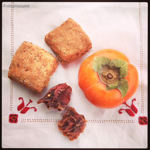 IMG_2129 / persimmon scones, Fuyu persimmon and dried persimmons