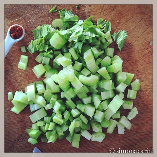 diced celery / IMG_4591
