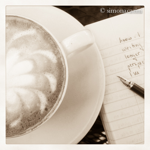 cappuccino, notebook and fountain pen / IMG_2590