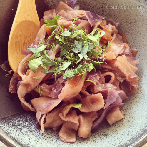 vegetarian tsuivan (Mongolian stew) / IMG_4277