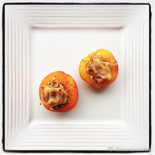 pecan parcels (apricots stuffed with pecans and pancetta)