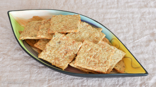 sourdough whole-wheat cheese crackers