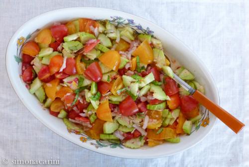 tomato, cucumber ad radish salad / P1040021