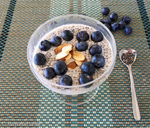 chia pudding with blueberries / IMG_3166